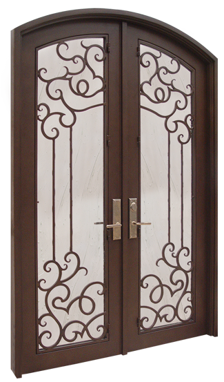 Wo3109 rossi iron old world door gallery for Old world entry doors